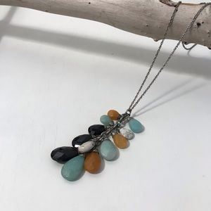 Anthropologie Wire Wrapped Layered Bead Necklace